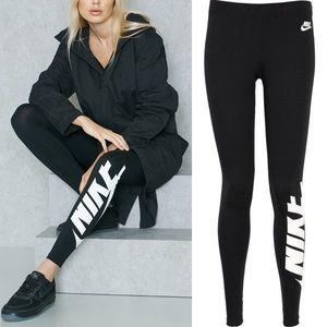Nike Irreverent Logo Leggings Black SzS
